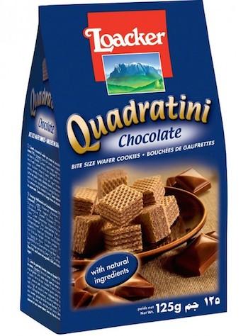 Loacker Quadratini шоколадные
