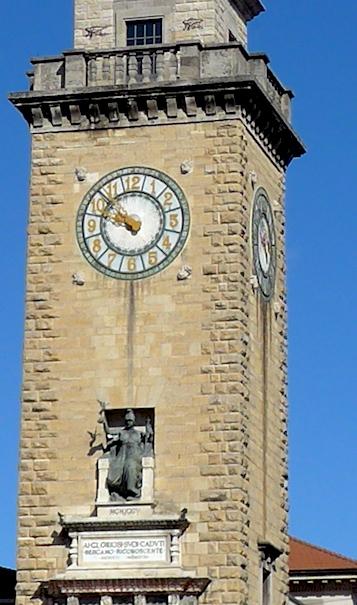 Бергамо - башня павшим в Первой мировой войне