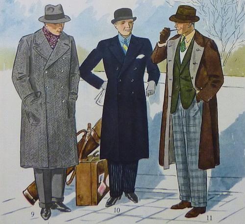 мужское пальто иллюстрации