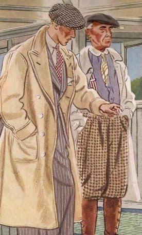 пальто старая иллюстрация