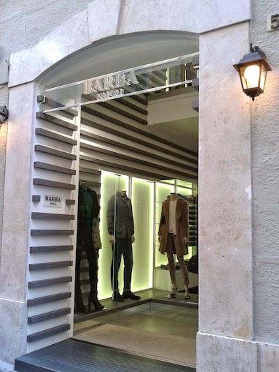 Barba shop in Rome