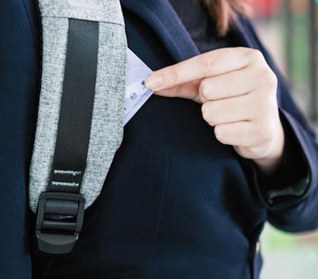 кармашек в лямке рюкзака