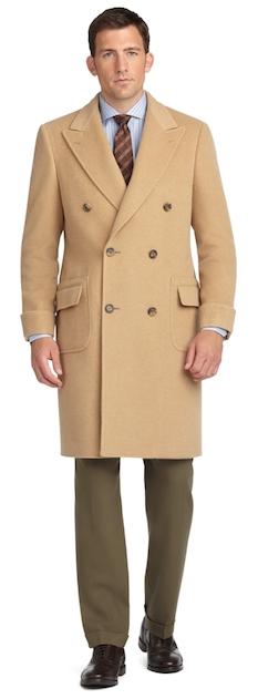 посадка мужского пальто