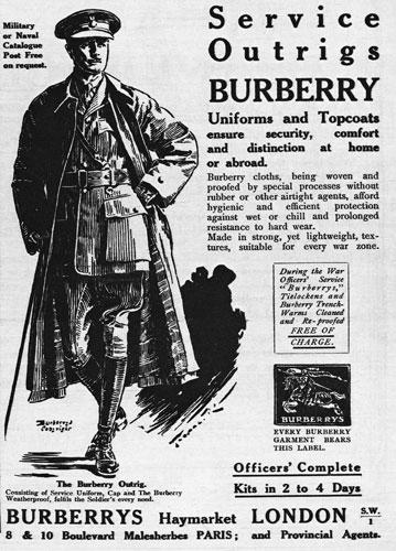 реклама фирмы Burberry