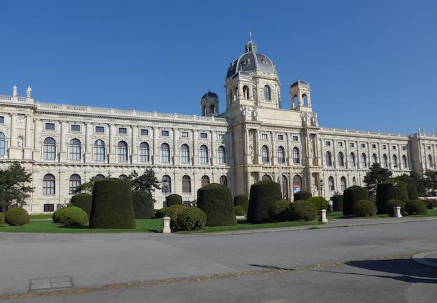 вид на музей естествознания в Вене