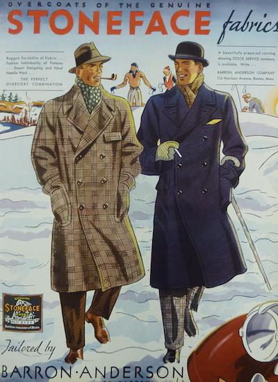 Старые иллюстрации мужская мода