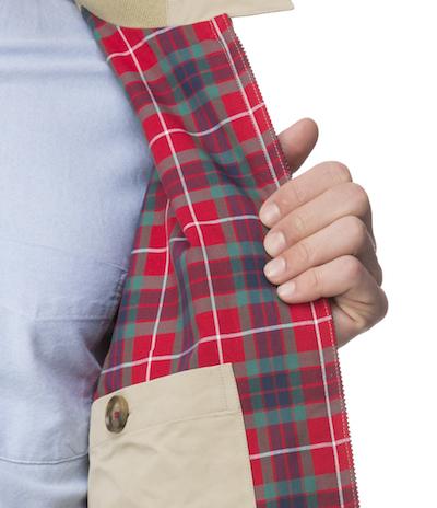 Подкладка в куртке Baracuta G9