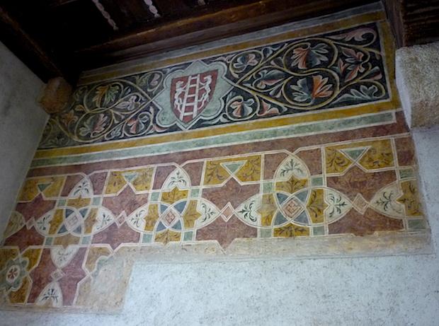 Фреска в замке Кастельвеккьо