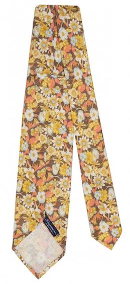 галстук в цветочках