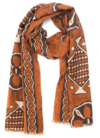 итальянский рыжий шарф