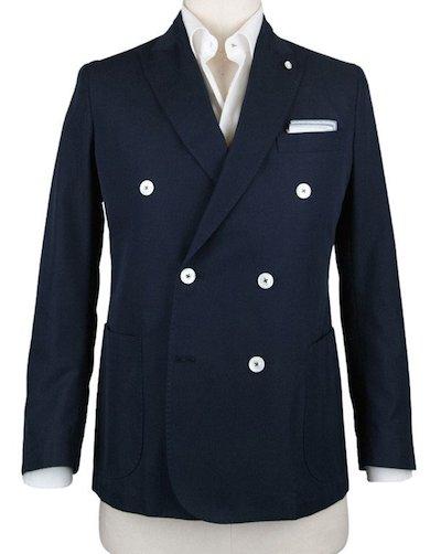 двубортный неаполитанский пиджак