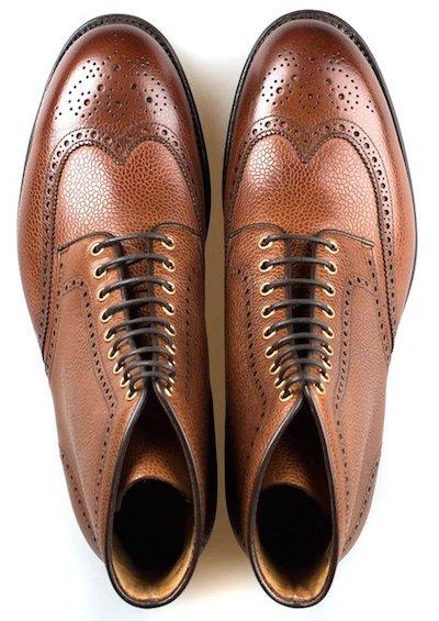 кожаные португальские ботинки
