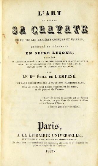 французская книга о галстуках