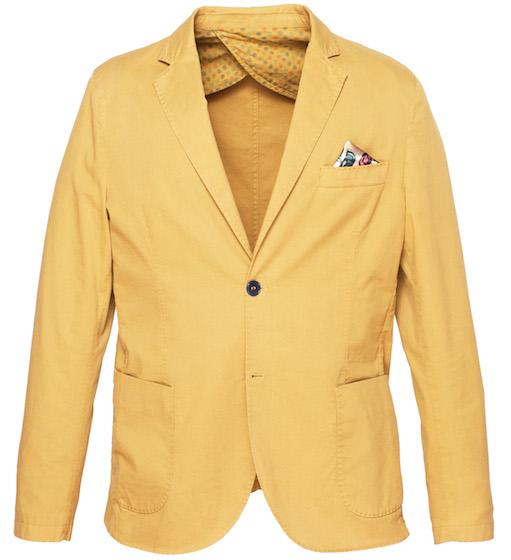 желтый мужской пиджак