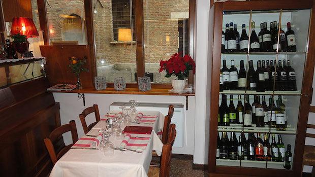 столик в Osteria dal Capo в Падуе
