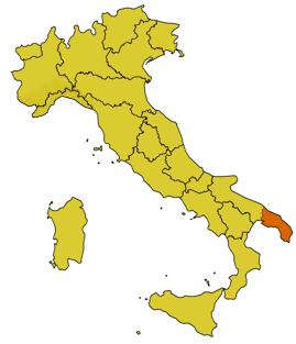 Италия Саленто карта