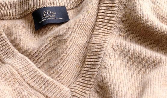 кашемировый свитер бежевого цвета