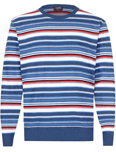 свитер в яркую полоску