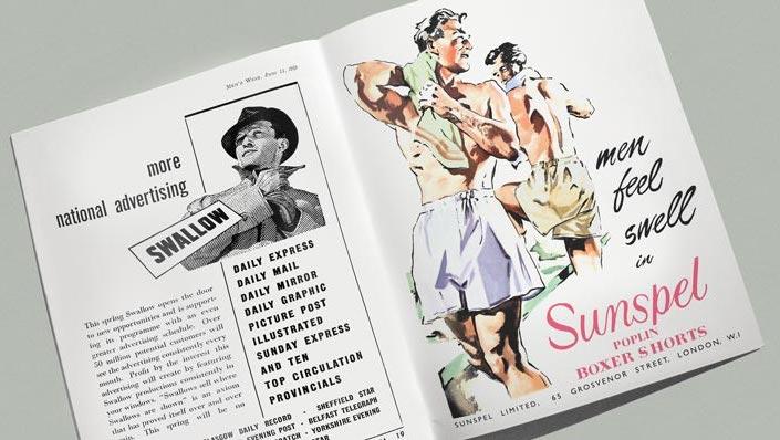 старая реклама мужских трусов