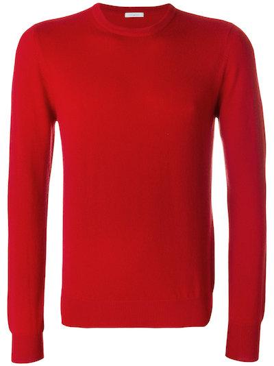 красный свитер бренда Malo