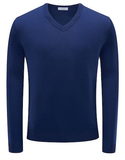 синий свитер Malo