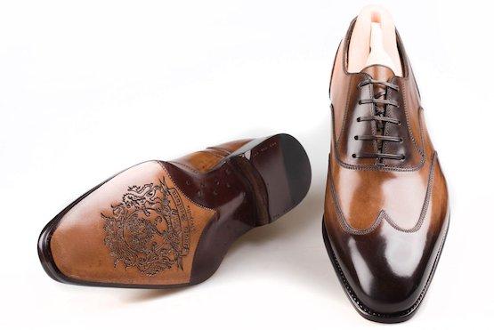 туфли с искусственной патиной