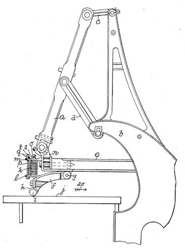 Машина для полировки кожи стеклом 1901 год