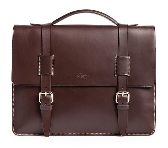 итальянский кожаный портфель коричневого цвета