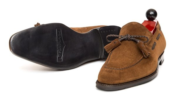 Charles F.Stead suede loafers