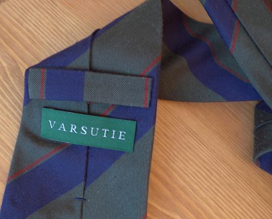 галстук в полоску от Varsutie