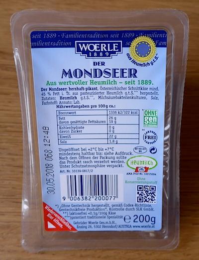 сыр Der Mondseer упаковка
