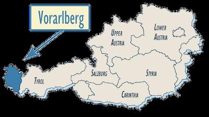 Vorarlberger Bergkase - map