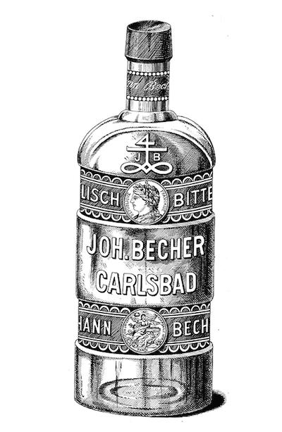 старая бутылка Бехеровки
