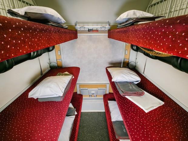 европейский поезд купе