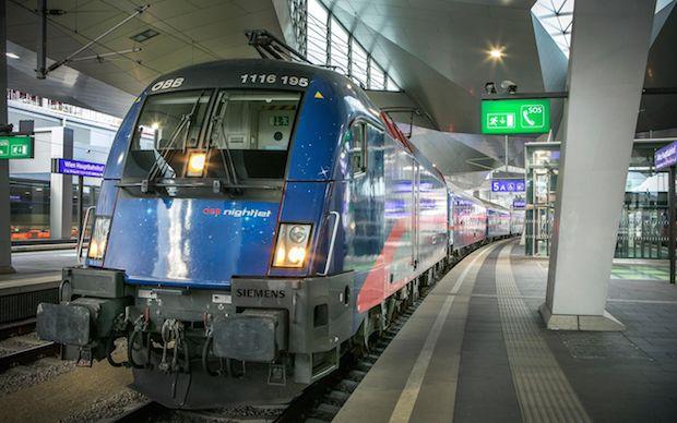 международный поезд NightJet
