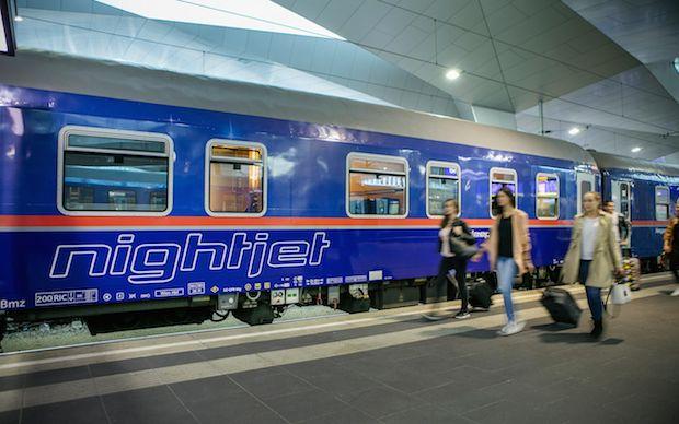 Австрийский поезд NightJet