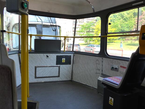 внутри пражского трамвая