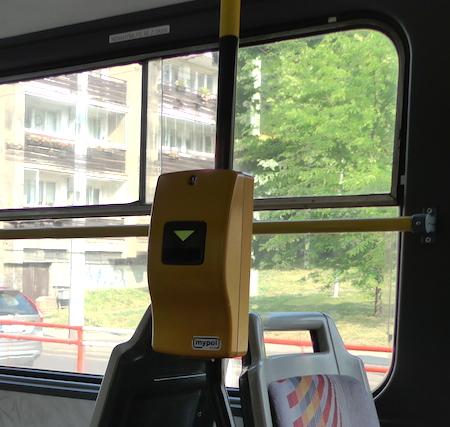 валидатор в трамвае Прага