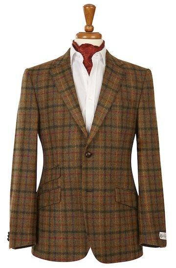 броский твидовый пиджак