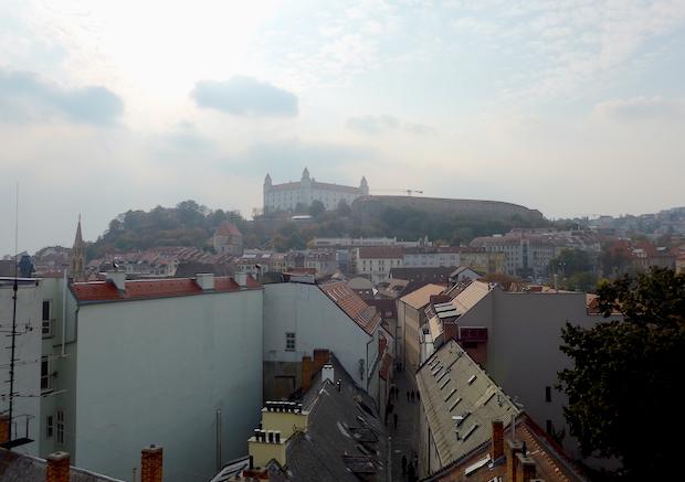 вид на замок Братиславы