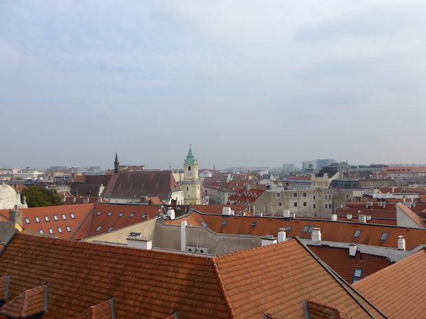 панорама Братиславы в Михальских ворот