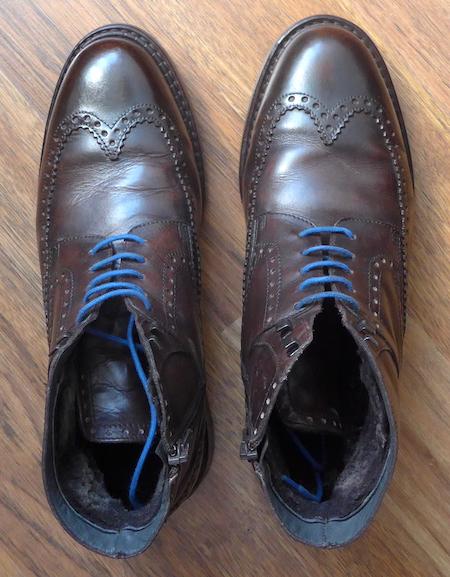 ботинки с заломами