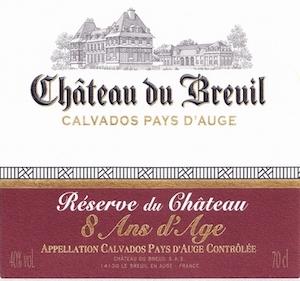 кальвадос Chateau du Breuil 8 лет