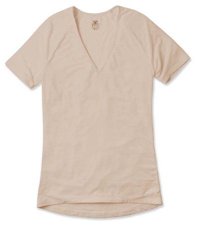качественная футболка телесного цвета