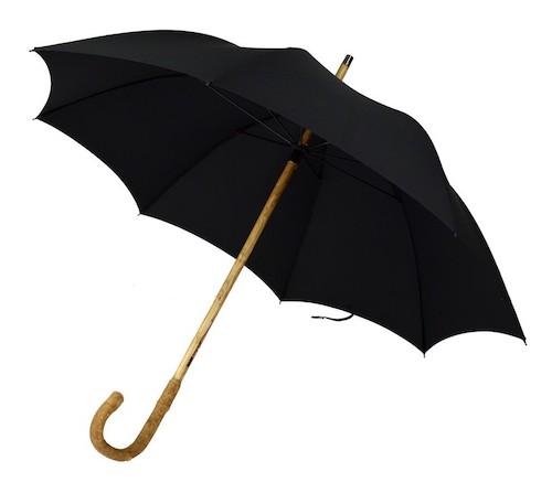 черный мужской зонт-трость