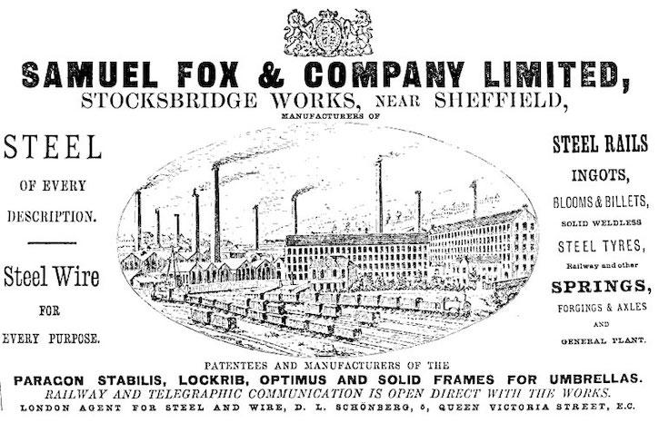 Samuel Fox история