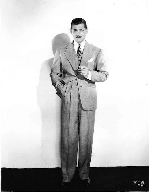 Кларк Гейбл в костюме-тройке