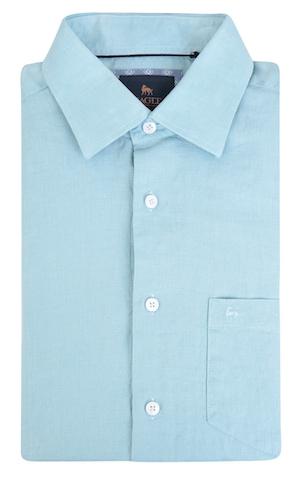 рубашка из ирландского голубого льна