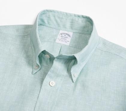 Брукс Бразерс рубашка из льна