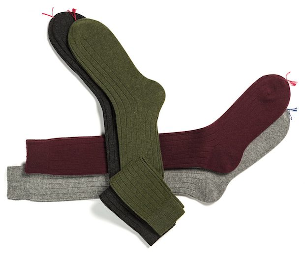 cashmere knee high socks made in Italy
